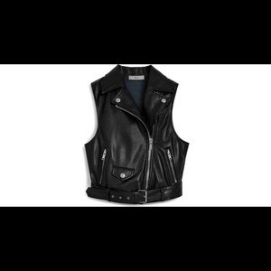 Mulberry Cathlyn leather moto vest